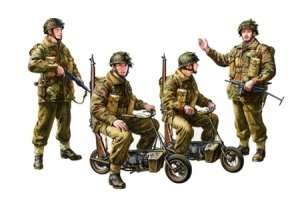 Tamiya 35337 British Paratroopers w/small motorcycle