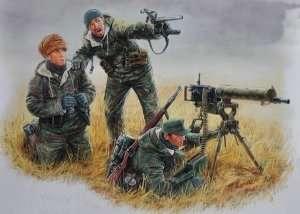 MB 3526 Figurki - Niemieccy żołnierze obsługujący karabin maszynowy