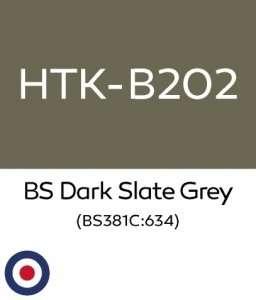 Hataka B202 BS Dark Slate Grey - farba akrylowa 10ml