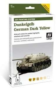 Vallejo 78401 Zestaw Model Air - Dunkelgelb German Dark Yellow 6x8ml