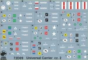 72D09 Polska kalkomania 1-72 Universal Carrier w WP i PSZ cz.2