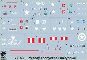 72D20 Kalkomania 1-72 Pojazdy zdobyczne i nietypowe w WP oraz w PSZ