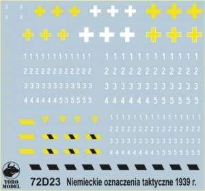 72D23 Kalkomania 1-72 Niemieckie oznaczenia kampania wrześniowa