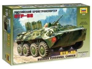 Zvezda 3558 Rosyjski transporter opancerzony BTR-80