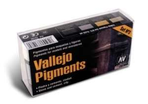 Vallejo 73198 - Pigment Set No.3 - Stone and cement, city - 4x30ml