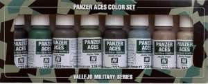 Vallejo 70128 Zestaw 8 farb Model Color - Panzer Aces 5 (Crew Uniforms)