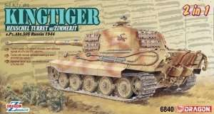 Dragon 6840 Kingtiger Henschel Turret w/Zimmerit