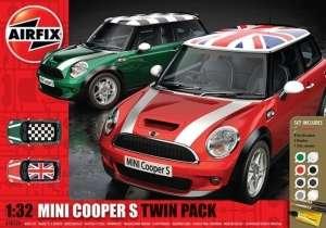Airfix A50126 Samochody Mini Cooper S z farbami i klejem