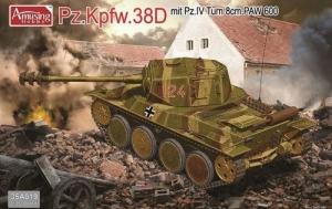 Amusing Hobby 35A019 Czołg Panzer 38D z Pz.IV Turm 8cm PAW 600