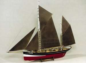 BB701 Drewniany żaglowiec FD 10 Arnanes Fishing Yawl