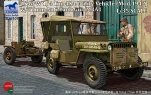 Bronco CB35107 Jeep 4x4 Light Utility Vehicle w/37mm Anti-Tank Gun M3A1