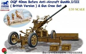 Bronco CB35111SP Działo przeciwlotnicze OQF 40mm Bofors i figurki