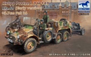 Bronco CB35133 Krupp Protze L2 H 143 Kfz.69 z 3,7cm Pak 36
