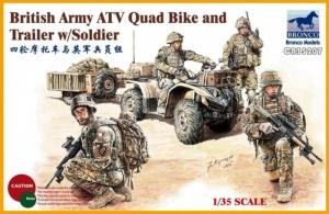 Bronco CB35207 Quad z przyczepką i figurki brytyjskich żołnierzy
