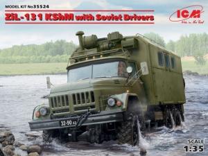 Ciężarówka ZiŁ-131 KShM z figurkami ICM 35524