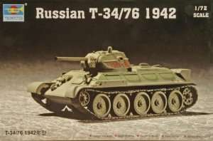Czołg T34-76 model 1942 Trumpeter 07206
