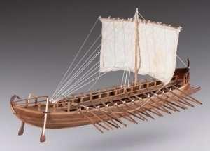 D001 Greek Bireme - drewniany model w skali 1-72