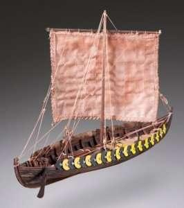 D002 Viking Gokstad - drewniany model w skali 1-72