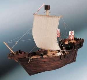 D003 Hanse Kogge - drewniany model statku w skali 1-72