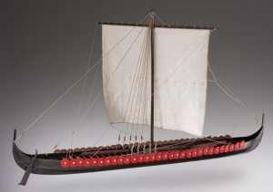 D005 Viking Longship - drewniany model łodzi w skali 1-35