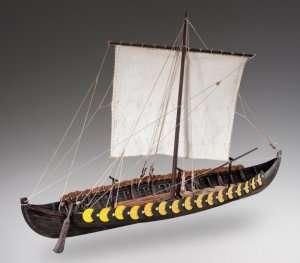 D006 Viking Gokstad - drewniany model w skali 1-35