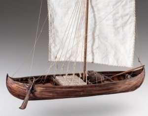 D007 Viking Knarr - drewniany model w skali 1-35