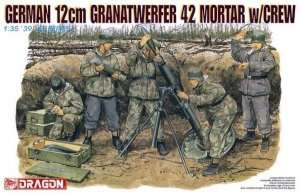 Dragon 6090 German 12cm Granatwerfer 42 Mortar w/ Crew