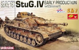 Dragon 6615 Działo pancerne StuG. IV wczesna produkcja 2 w 1