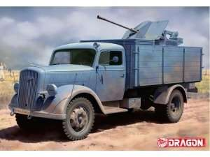 Dragon 6828 German 3t 4x2 Truck w/2cm FlaK 38 (2 in 1)