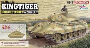 Dragon 6848 Kingtiger Porsche Turret w/Zimmerit 2in1
