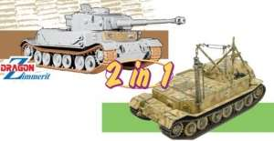 Dragon 6869 Pz.Kpfw.VI (P) / Bergepanzer Tiger (P) model 2w1