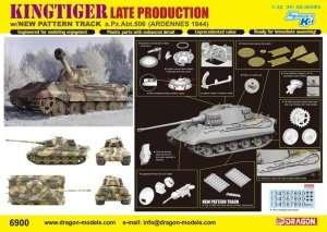 Dragon 6900 Kingtiger LP w/New Pattern Track s.Pz.Abt.506 Ardennes 1944
