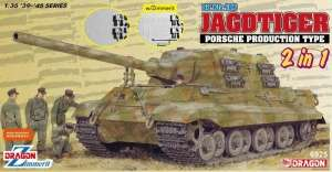 Dragon 6925 Sd.Kfz.186 Jagdtiger Porsche Production Type 2in1