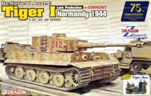 Dragon 6947 Czołg Tiger I późna prod. - Zimmerit, Normandia 1944