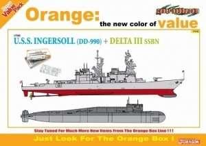 Dragon 7114 USS Ingersoll DD-990 vs Delta III SSBN