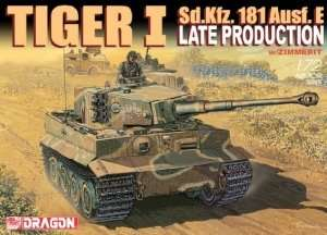 Dragon 7203 Sd.Kfz. 181 TIGER-I LATE PROD.w/ZIMMIRET