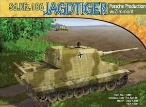 Dragon 7291 Jagdtiger, Porsche Version w/Zimmerit