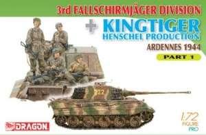 Dragon 7361 3rd Fallschirmjager Division and Kingtiger Henschel Production Part 1