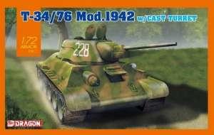 Dragon 7601 Czołg T-34/76 Mod.1942 z odlewaną wieżą skala 1-72