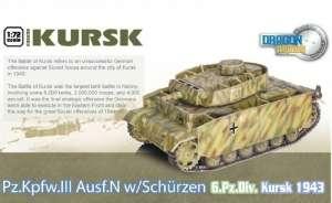 Dragon Armor 60622 Pz.Kpfw.III N w/Schurzen Kursk gotowy model