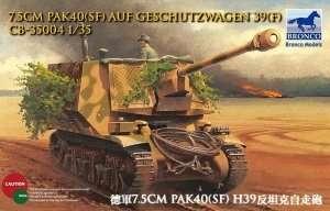 Działo 7.5cm Pak40(Sf) auf Geschutzwagen 39H(f) Bronco 35004