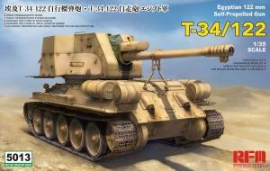 Egipskie działo samobieżne T-34/122 model RFM 5013