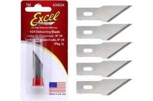 Excel 20024 Ostrza wymienne do nożyka modelarskiego 5 szt.