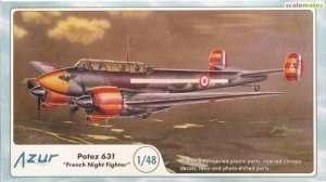 Francuski myśliwiec nocny Potez 631 Azur 100A058