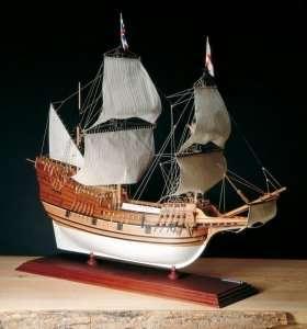 Galeon Mayflower - Amati 1413 drewniany model okrętu w skali 1:60