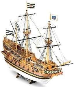 Galeon Roter Lowe Mamoli MV19 drewniany model okrętu w skali 1-55