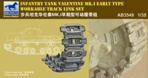 Gąsienice do czołgu Valentine Mk.I Bronco AB3549 skala 1-35