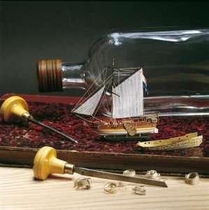 Golden Yacht - okręt w butelce - Amati 1350 - drewniany model