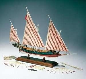 Grecka galera - Amati 1419 - drewniany model w skali 1:65
