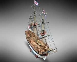 HMS Bounty - Mamoli MV52 - drewniany model w skali 1-100